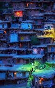 village, houses wallpaper ...
