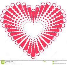 Heart Shape Design Heart Shape Design For Love Symbols Stock Illustration