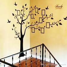 diy family photo frame tree wall sticker home decor living room bedroom wall decals poster home decoration wallpaper mural art vinyl wall sayings vinyl wall