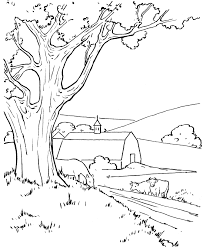 Farm Barn And Cows Coloring Pages Colouring Adult Detailed Advanced