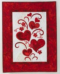 Quilt Inspiration: Free pattern day: Hearts and Valentines & Keep the Heart Truth Growing, free wall hanging pattern by Jane Spolar for  Janome (download the PDF template here) (scroll down to see the matching  pillow) Adamdwight.com
