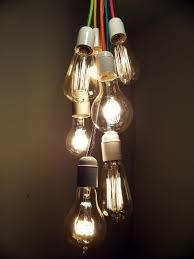 lightbulbs bare. 7 Cluster Bulbs Pendant Light Modern Chandelier Custom Colors Vintage Edison Rustic Mason Jar Country Shabby Lightbulbs Bare