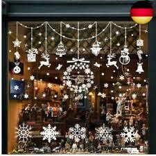 Details Zu Fensterbilder Weihnachten Selbstklebend Schneeflocken Fensterdeko