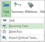 create recurring tasks