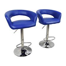 off  all modern all modern blue leather adjustable height