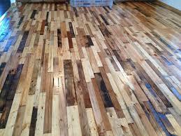 Brown Pallet Wood Floor