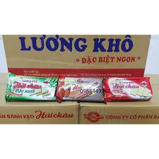 NH15 HDF [RẺ VÔ ĐỊCH] Thùng 100 gói Lương Khô Hải Châu vị đậu xanh/ cacao/  tổng hợp/ dinh dưỡng 65g 25 chính hãng 250,000đ
