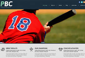 Baseball Websites Templates 50 Best Wordpress Sports Themes 2017