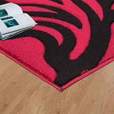 modern area red black rug for living room