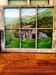regenia ford appalachian americans facebook group antique window i painted an old barn scene
