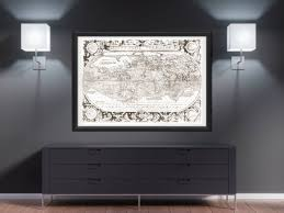 world map wall art 1603 antique large