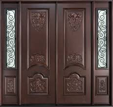 Solid Wood Front Door Designs Mahogany Solid Wood Front Entry Door Double Entry Doors