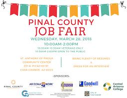 2018 Pinal County Job Fair Arizona Work