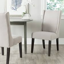 com safavieh mercer collection sher side chair taupe set of 2 chairs
