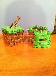my minecraft perler bead collection diy melty bead patterns minecraft grass block perler coin bank by dorkking12 com on