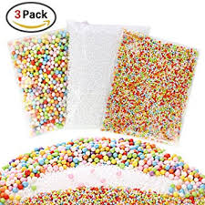 GeMoor 21000+ Pcs Mini Styrofoam Balls for Slime, Foam Balls for Slime,  Colorful