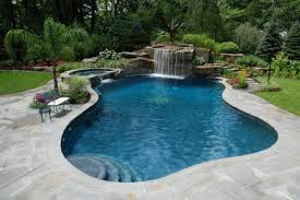 allendale nj tropical nj backyard swimming pool design 600x400 Tropical  Backyard Waterfalls Allendale NJ