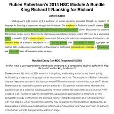 hsc module a king richard iii looking for richard 2013 hsc module a king richard iii looking for richard 2 essay bundle 19 5