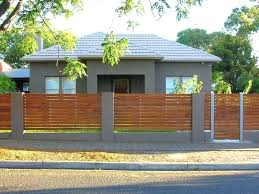 modern fence concrete horizontal diy wood fence contractors building a modern style horizontal diy