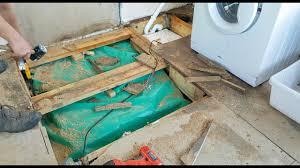 replacing water damaged chipboard floorboards
