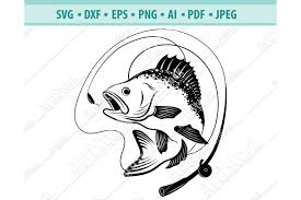 Moustaches and sunglasses clipart black isolated vector. Bass Fishing Svg Fishing Svg Fishing Hooks Png Dxf Eps 442597 Svgs Design Bundles