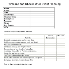 Party Event Planning Template Timeline Checklist Template Cool Free