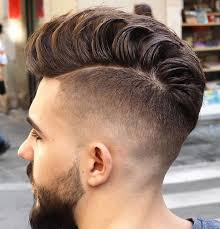 3 high fade with loose pompadour