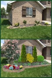 Vision Landscape Design Springfield Mo Landscape Design With 2 Mulch Beds And Various Trees Shrubs