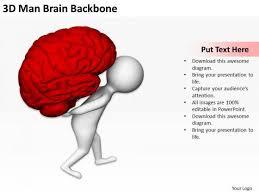 Business People Vector 3D Man Brain Backbone Powerpoint Templates ...