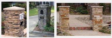 stone mailbox designs. Stacked Stone Mailbox Post Designs
