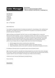 Cover Letter Sample Cover Letter For Sales And Marketing Job