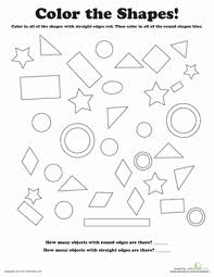 Small Picture Shapes Coloring Pages Geometric Shapes Coloring Pages For Kids
