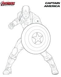Captain America Coloring Sheets Best Coloring Pages 2018