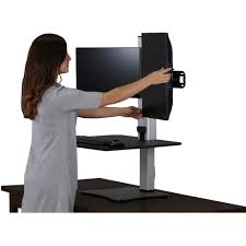 adjustable standing desk dual monitor.  Monitor Up  Throughout Adjustable Standing Desk Dual Monitor