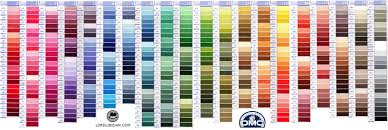 Dmc Color Chart 2018 Printable Free Dmc Color Chart Lord Libidan