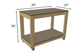 easy diy portable workbench plans dimensions