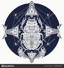 египетский скарабей символ фараона богов солнце дизайн футболки