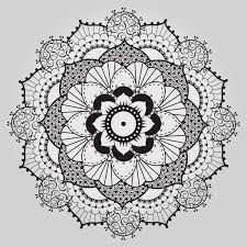 Henna Pattern Enchanting This Took Sometime Vector Henna Patterns Outline Illustrator