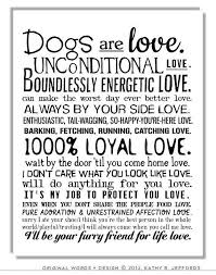 Dog Best Friend Quotes Gorgeous Dogs Are Love Typographic Print Sentimental Pet Poem IdealPin