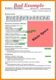 Example Of A Bad Resumeexamples Of Bad Resumes Template Vgubt40nv Inspiration Bad Resumes
