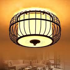 birdcage ceiling lights modern shaped mount light fixtures shade