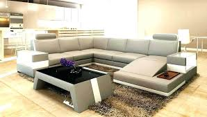 light grey leather sectional sofa couch modern bonded macys furniture