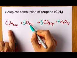 complete combustion of propane c3h8