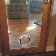small dog door for glass supplied installed