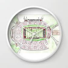 Papa John S Cardinal Stadium Seating Chart U Of L Papa Johns Cardinal Stadium Louisville Kentucky Watercolor Wall Clock