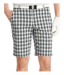 Izod Shorts Size Chart Izod Mens Relaxed Plaid Golf Casual Walking Shorts