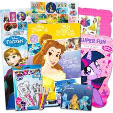 Amazoncom Disney Mlp Coloring Book Super Set For Girls 3 Giant