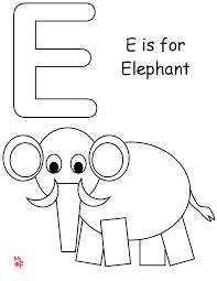 Small Picture Letter E Coloring Pages To Download And Print For Free Throughout