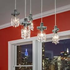 the tribeca collection crystal chandelier mini pendant is a jewel of artistic modern industrial
