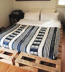 inexpensive wooden pallet bed frame pallets